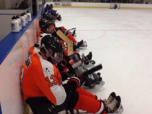 Flyers and USA Warriors benches